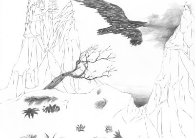 """Paradise lost #004"", blyant på papir, 30 x 30 cm, 2009"