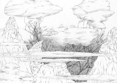 """Paradise lost #010"", blyant på papir, 30 x 30 cm, 2009 (solgt)"
