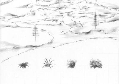 """Paradise lost #011"", blyant på papir, 30 x 30 cm, 2009"