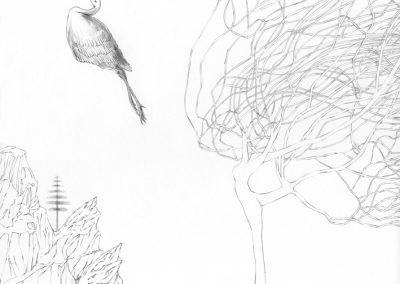"""Paradise lost #012"", blyant på papir, 30 x 30 cm, 2009 (solgt)"