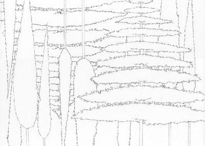 """Paradise lost #013"", blyant på papir, 30 x 30 cm, 2009"