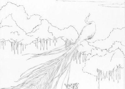 """Paradise lost #015"", blyant på papir, 30 x 30 cm, 2009"