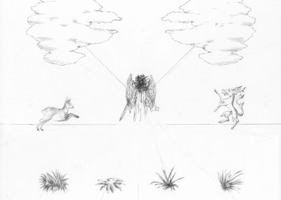 """Paradise lost #016"", blyant på papir, 30 x 30 cm, 2009"