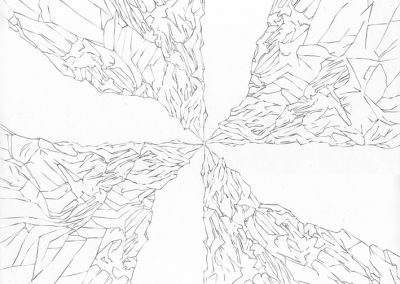 """Paradise lost #017"", blyant på papir, 30 x 30 cm, 2009"