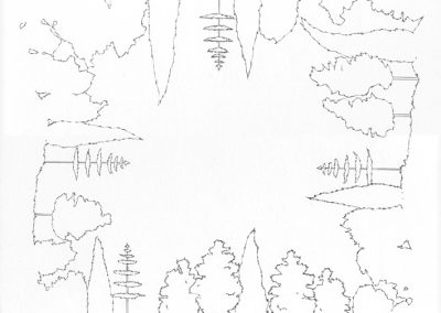 """Paradise lost #019"", blyant på papir, 30 x 30 cm, 2009"
